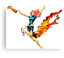 Phoenix Jean Grey Pixelated (Fire) Canvas Print