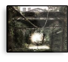 Dystopian Bridge Metal Print