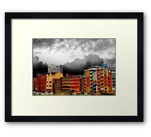 Stormy City Framed Print
