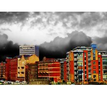 Stormy City Photographic Print
