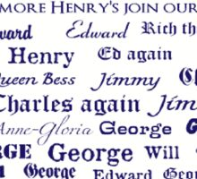 English Kings & Queens Sticker