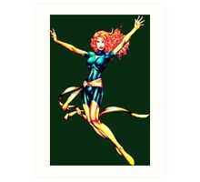 Pixelated Jean Grey (Phoenix) Art Print