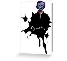 Edgar Allan Poe ink blot Culture Cloth Zinc Collection Greeting Card
