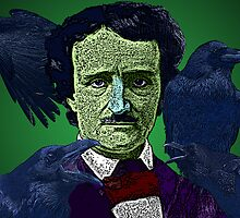 Edgar Allan Poe portrait Culture Cloth Zinc Collection by CultureCloth