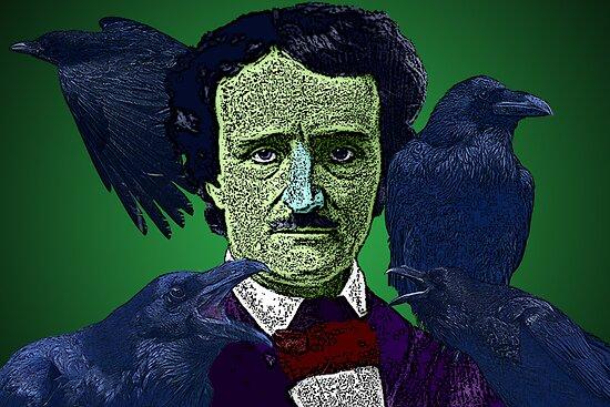 Edgar Allan Poe portrait Culture Cloth Zinc Collection by CultureCloth
