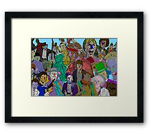 Pop Culture Collage by Culture Cloth Zinc Collection Framed Print