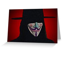 Guy Fawkes V for Vendetta Anonymous mask Culture Cloth Zinc Collection Greeting Card