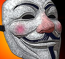 Guy Fawkes V for Vendetta Anonymous mask 2 Culture Cloth Zinc Collection by CultureCloth