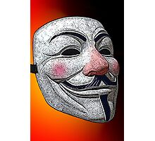 Guy Fawkes V for Vendetta Anonymous mask 2 Culture Cloth Zinc Collection Photographic Print