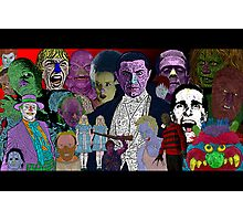 Horror Movie Collage by Culture Cloth Zinc Collection Photographic Print