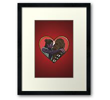 Princess Liea Chewbacca Heart Love Culture Cloth Zinc Collection Framed Print