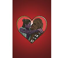 Princess Liea Chewbacca Heart Love Culture Cloth Zinc Collection Photographic Print
