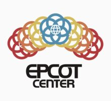 Epcot Center Rainfall Black Logo by AngrySaint