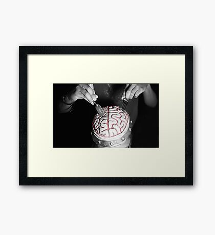 Surgery? Dinner? Can't say. Framed Print