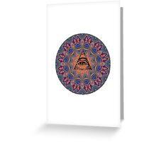 Illuminati Eye Mandala Greeting Card
