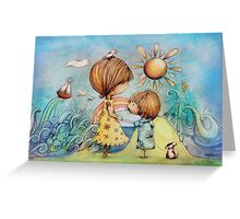 sun and sea Greeting Card