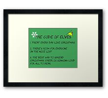 Code of Elves Framed Print