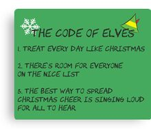Code of Elves Canvas Print