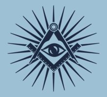 Masonic symbol, all seeing eye, freemasonry  by nitty-gritty