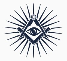 Masonic symbol, all seeing eye, freemasonry  Kids Clothes