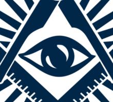 Masonic symbol, all seeing eye, freemasonry  Sticker