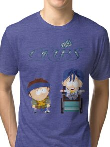 South Park Jimmy Timmy Crips Tri-blend T-Shirt