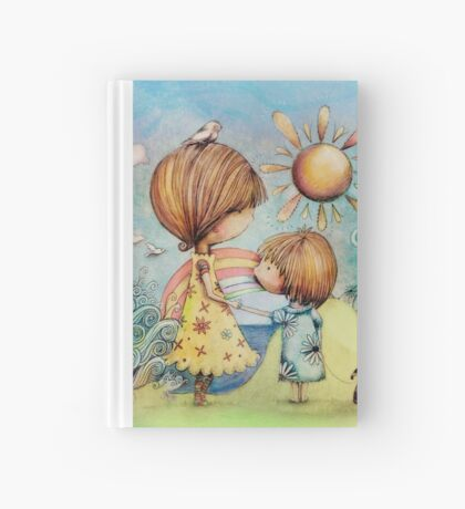 sun and sea Hardcover Journal