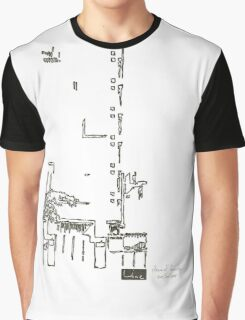LINE : Vision, The building. Graphic T-Shirt
