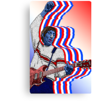 Pete Townsend The Who by Culture Cloth Zinc Collection Canvas Print