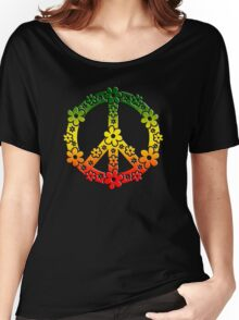 PEACE SYMBOL,  Reggae flowers, symbol of freedom Women's Relaxed Fit T-Shirt