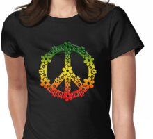 PEACE SYMBOL,  Reggae flowers, symbol of freedom Womens Fitted T-Shirt