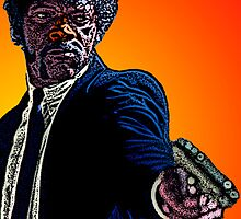 Pulp Fiction Samuel L. Jackson by Culture Cloth Zinc Collection by CultureCloth