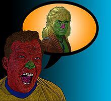 Star Trek Captain Kirk Kahn!  by Culture Cloth Zinc Collection by CultureCloth