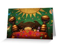 When the sun went down Greeting Card
