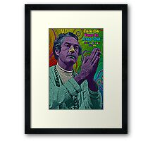 Timothy Leary by Culture Cloth Zinc Collection Framed Print