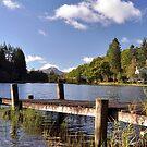 Scotland,Loch Ard With Ben Lomond In The Distance by Jim Wilson