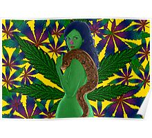 Weeds Nancy Marijuana Leaf by Culture Cloth Zinc Collection Poster
