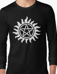 Supernatural Tattoo (white) Long Sleeve T-Shirt