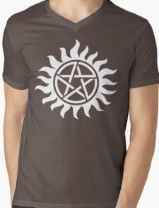 Supernatural Tattoo (white) Mens V-Neck T-Shirt