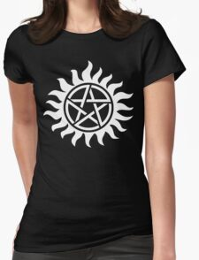 Supernatural Tattoo (white) Womens Fitted T-Shirt