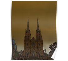 St marys Cathedral Sydney Poster