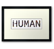 HUMAN Computer Wires Framed Print