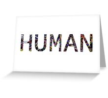 HUMAN Computer Wires Greeting Card