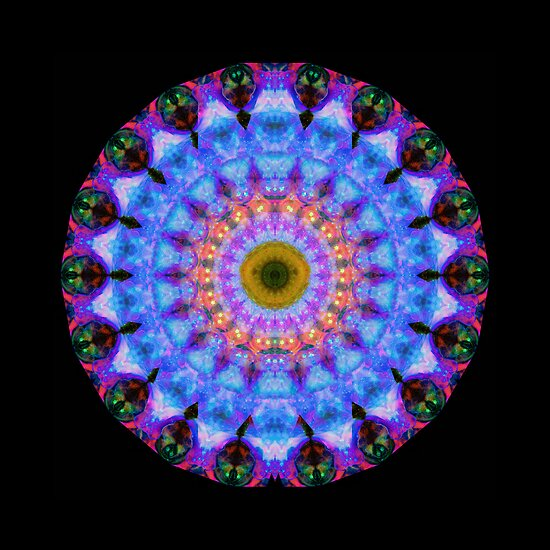 Sacred Crown - Mandala Art By Sharon Cummings by Sharon Cummings