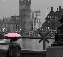 The Pink Umbrella by Adrian Alford Photography