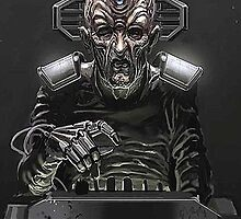 Davros - The Master by kobalos