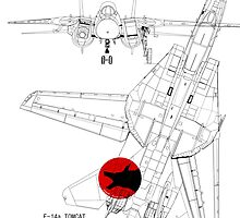 F-14a Tomcat diagram 1a  by Kent Compton
