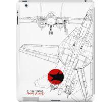 F-14a Tomcat diagram 1a  iPad Case/Skin