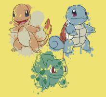 Starter Pokemon Splatter Kids Clothes