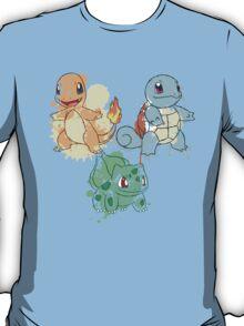 Starter Pokemon Splatter T-Shirt